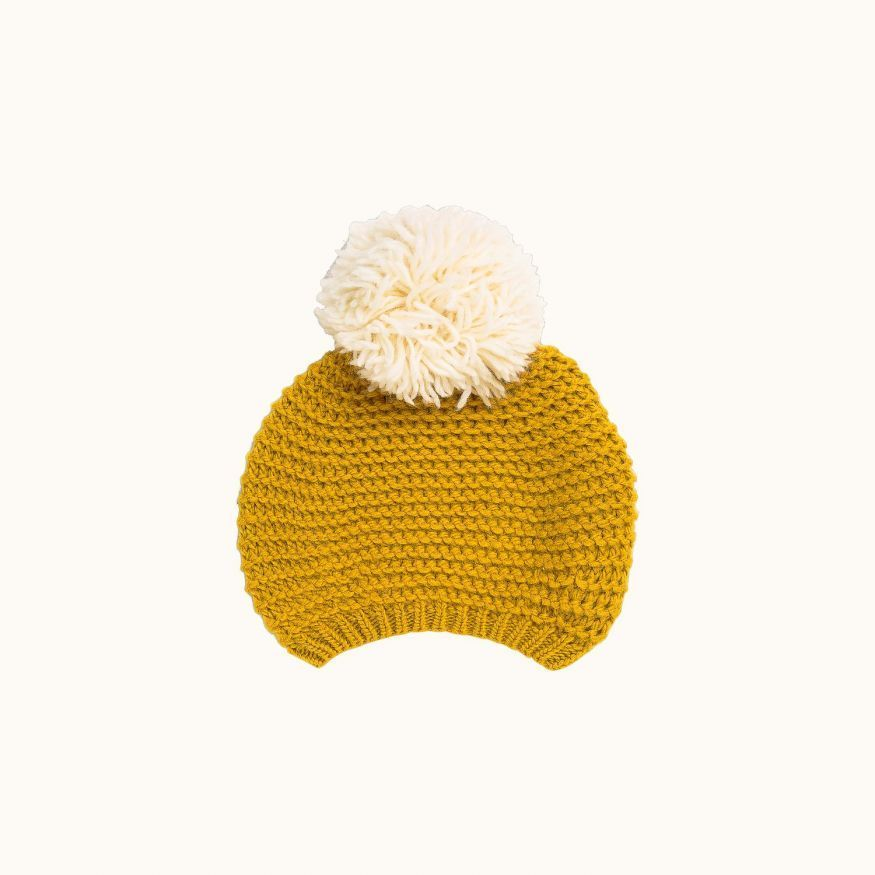 Children's wool beret Sunshine yellow