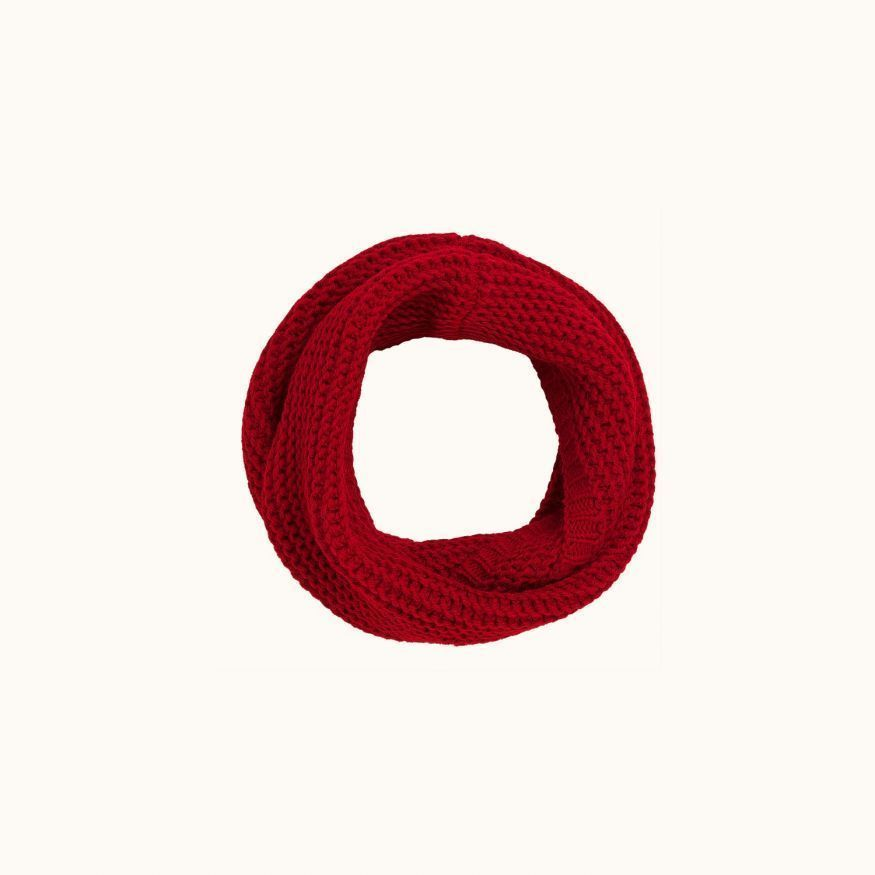 Children's snood Poppy red