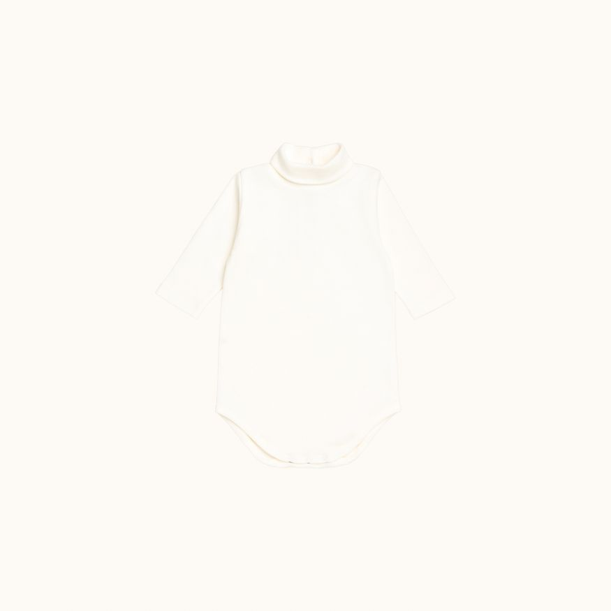 Babies' bodysuit milk white