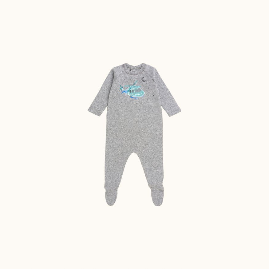 Baby pajamas Light heathered gray