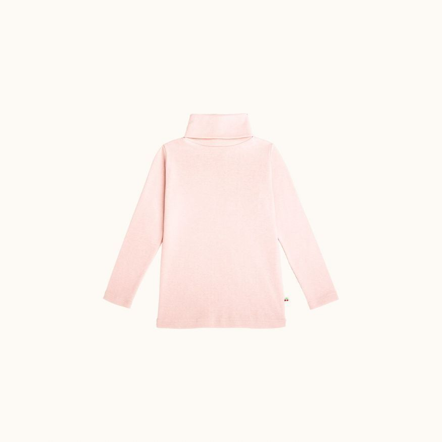Children's turtleneck sweater pink