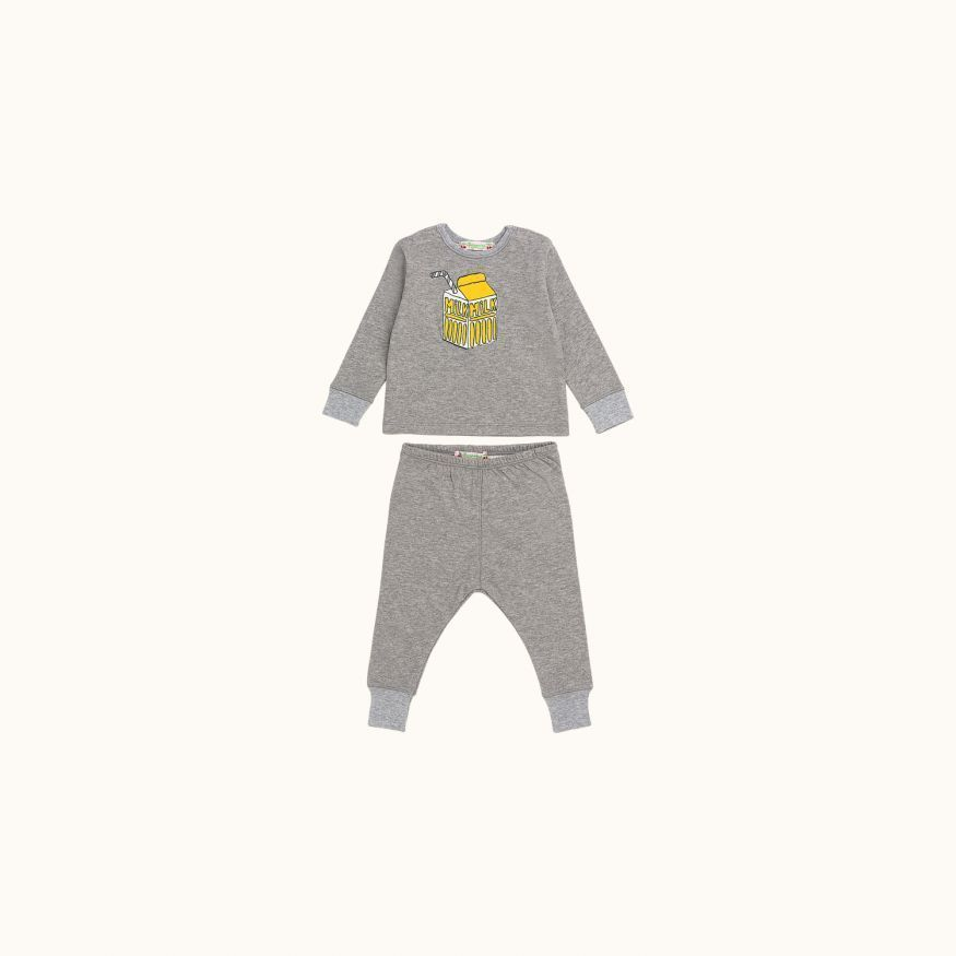 Two-piece baby set heathered gray