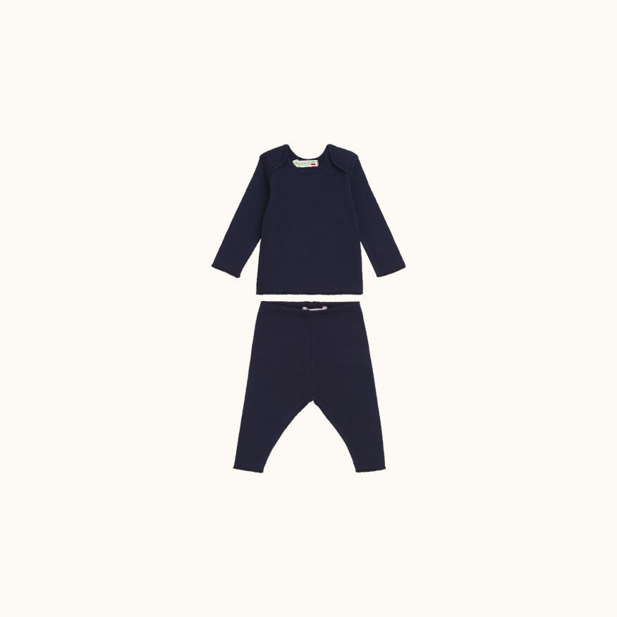 Two-piece babies' set navy