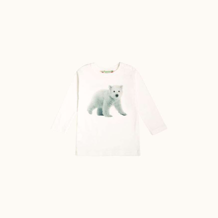 Babies' T-shirt milk white