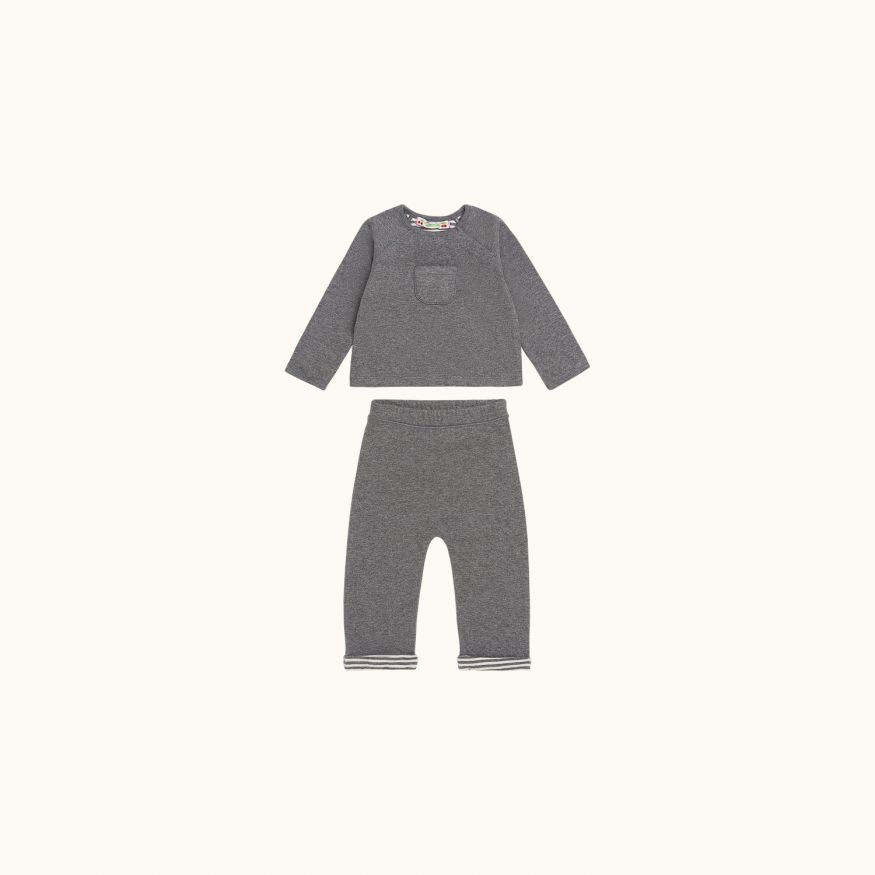 Babies' set Dark gray