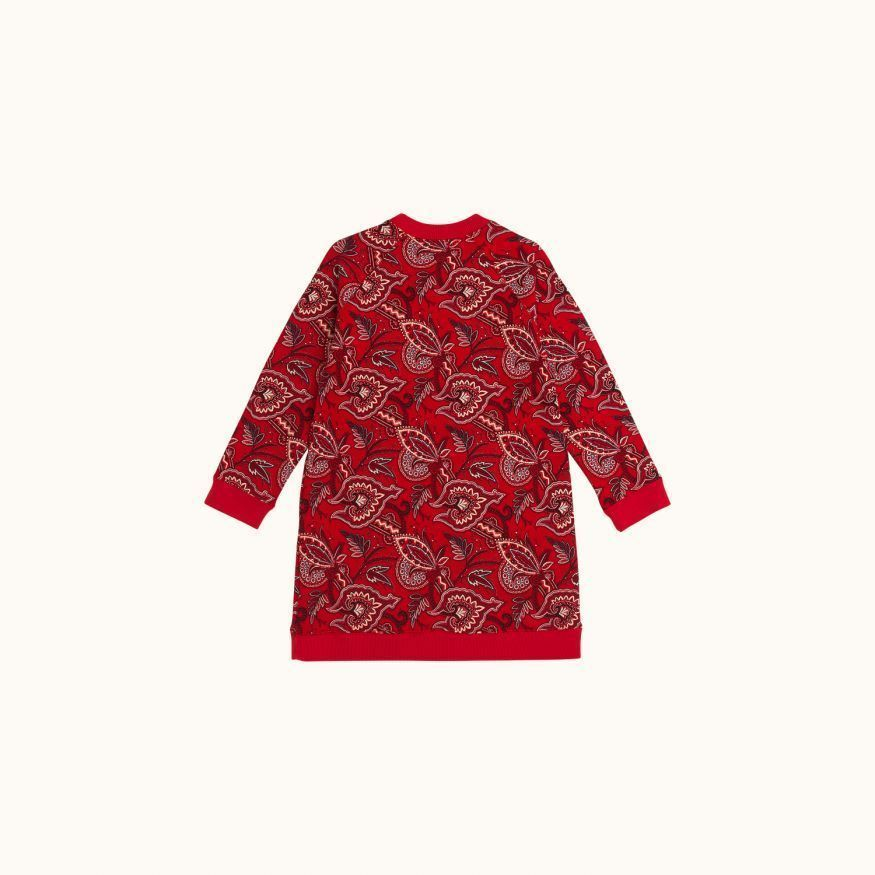 Printed sweatshirt red