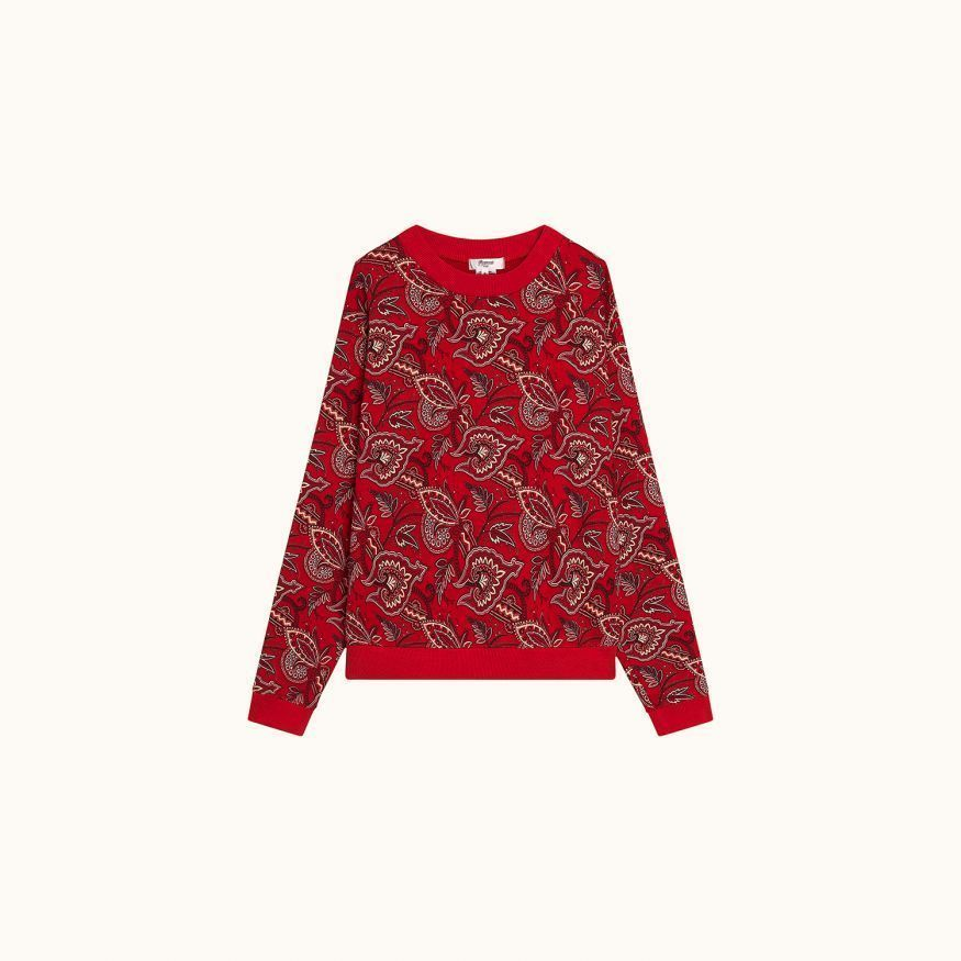 Fleece sweatshirt red
