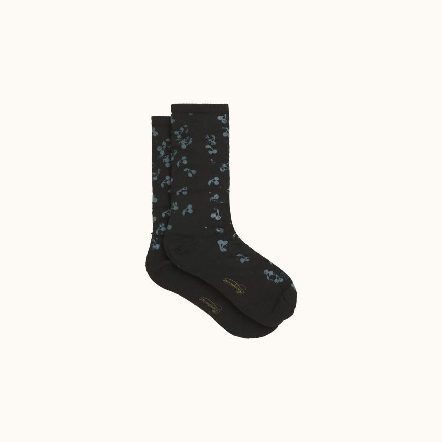 Socks Black print