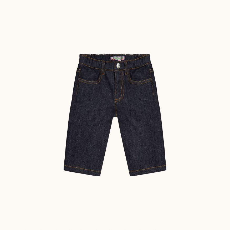 Cookie babies' pants Dark denim