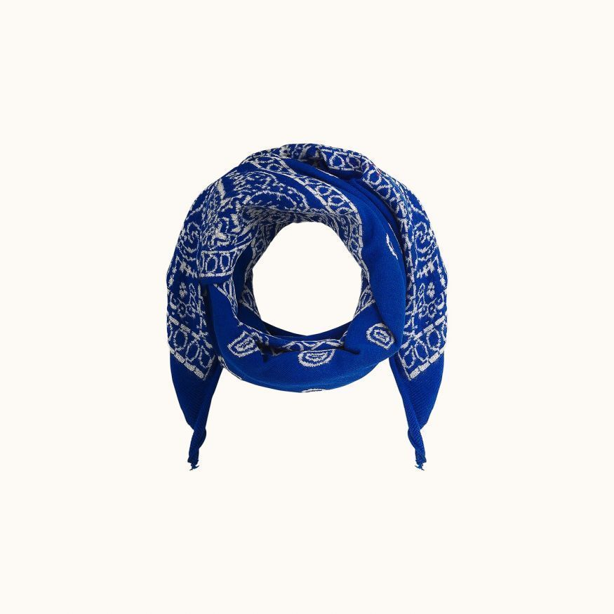 Dana scarf Electric blue