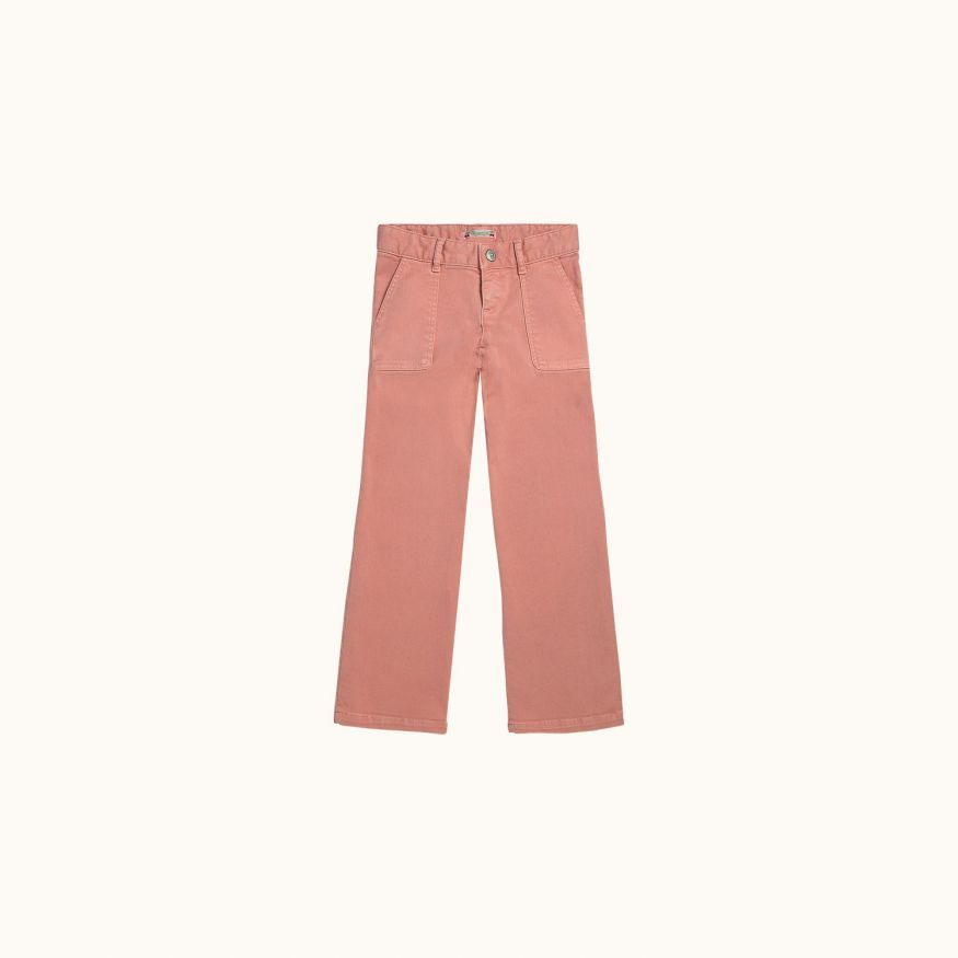 Pantalon File rose thé