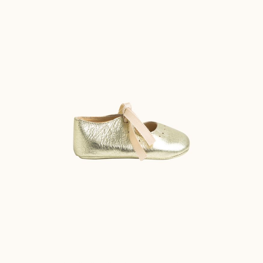 Georgie babies' shoes gold