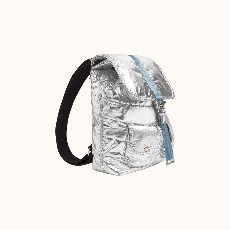 Shine backpack silver