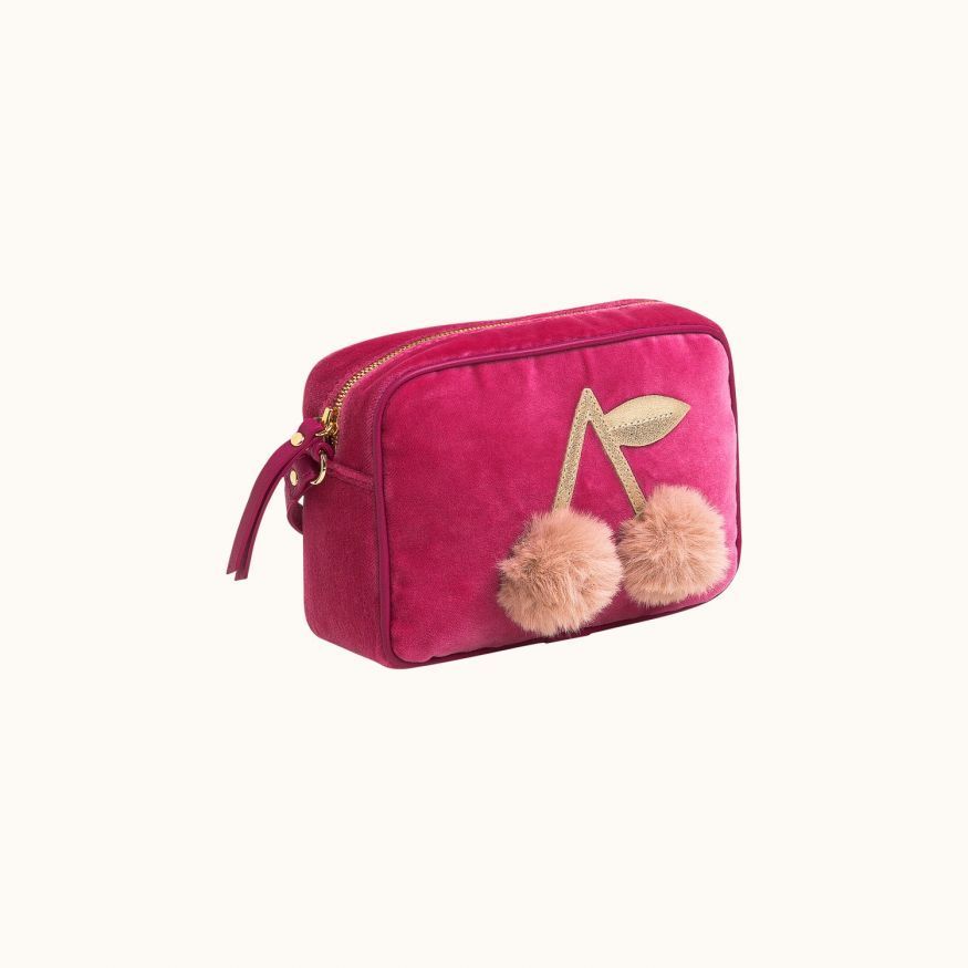 Pompon children's bag Fuchsia pink