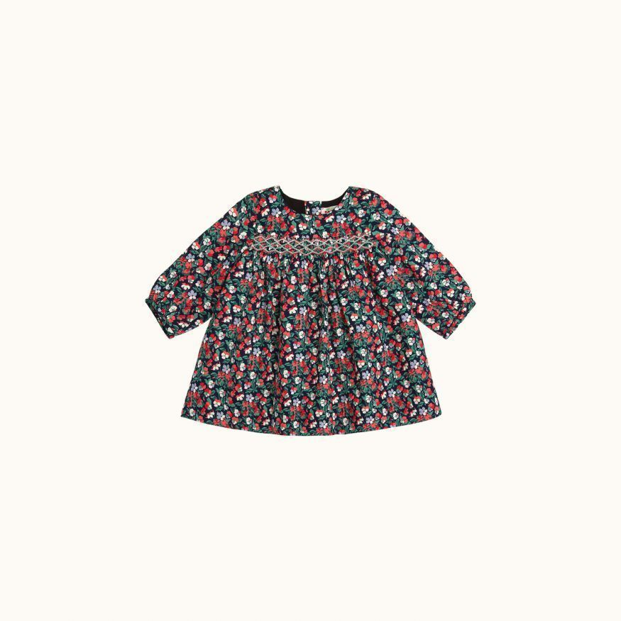 Félicie girls' dress navy