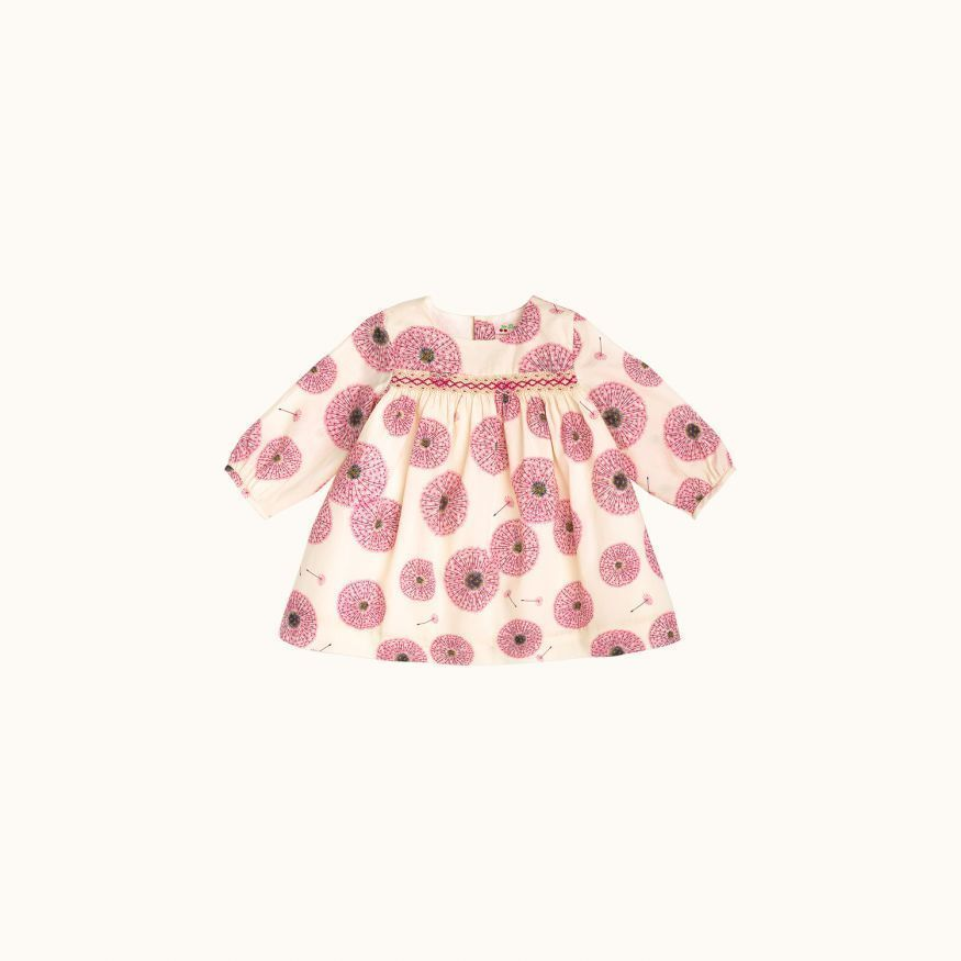 Babies' Felicie dress Fuchsia pink