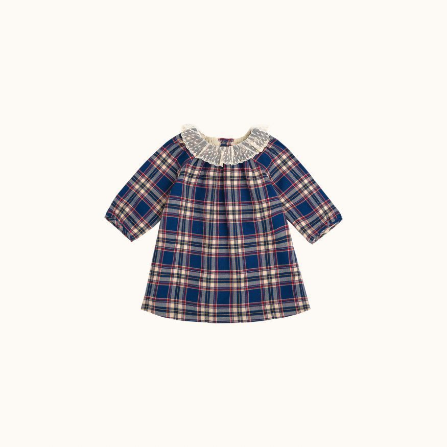Flavili babies' dress Northern blue