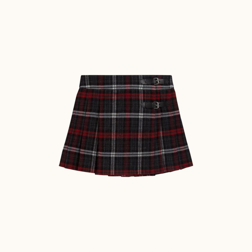 Girls' Folk skirt Dark gray