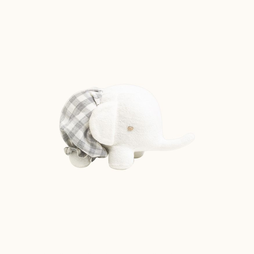 Elephant stuffed animal Light gray
