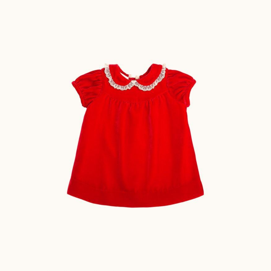 Madila babies' dress Poppy red