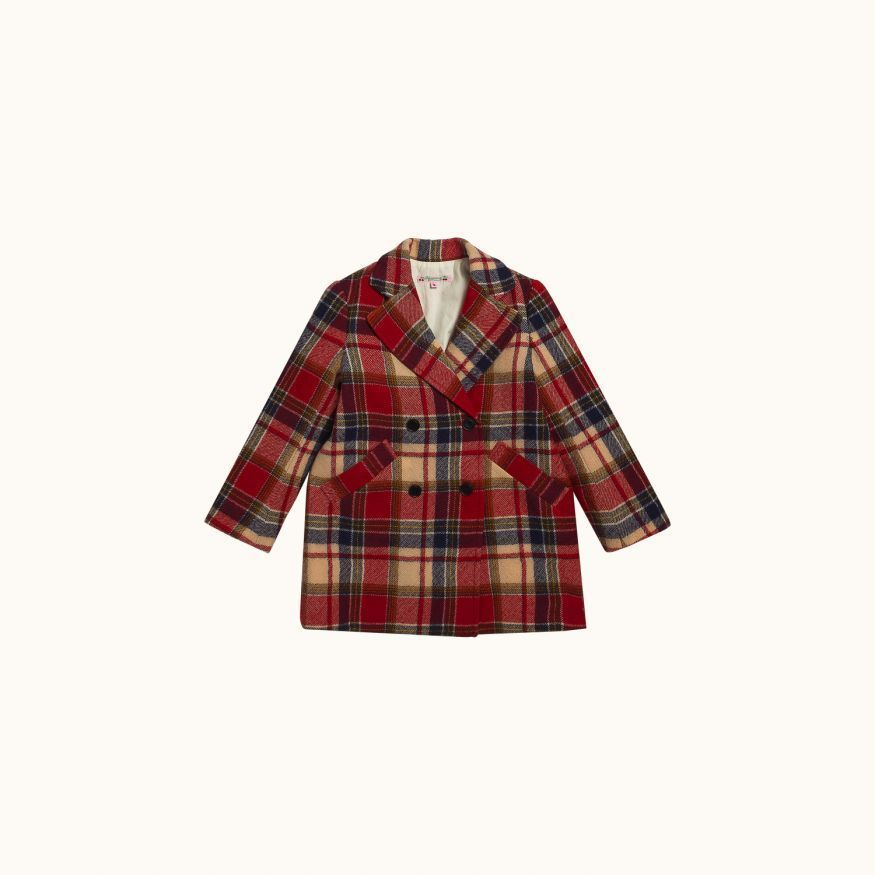 Madison coat Red check