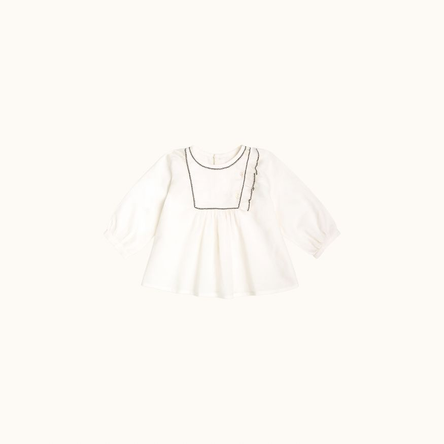 Maeli babies' blouse Milk white
