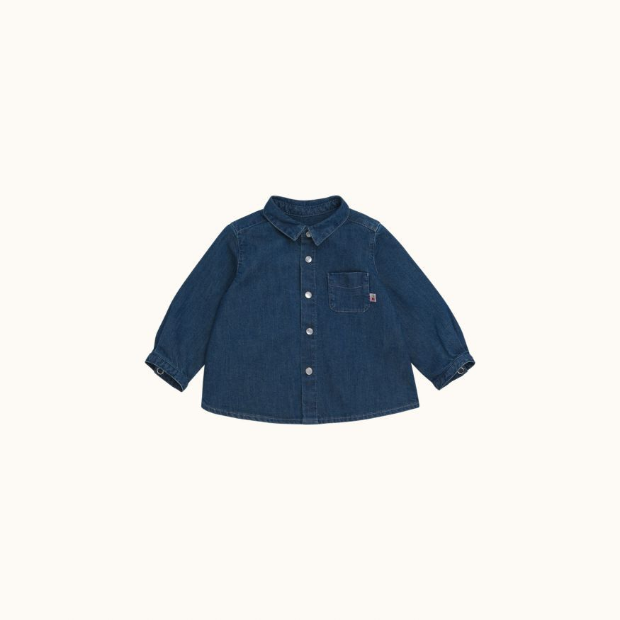 Malo babies' shirt light denim