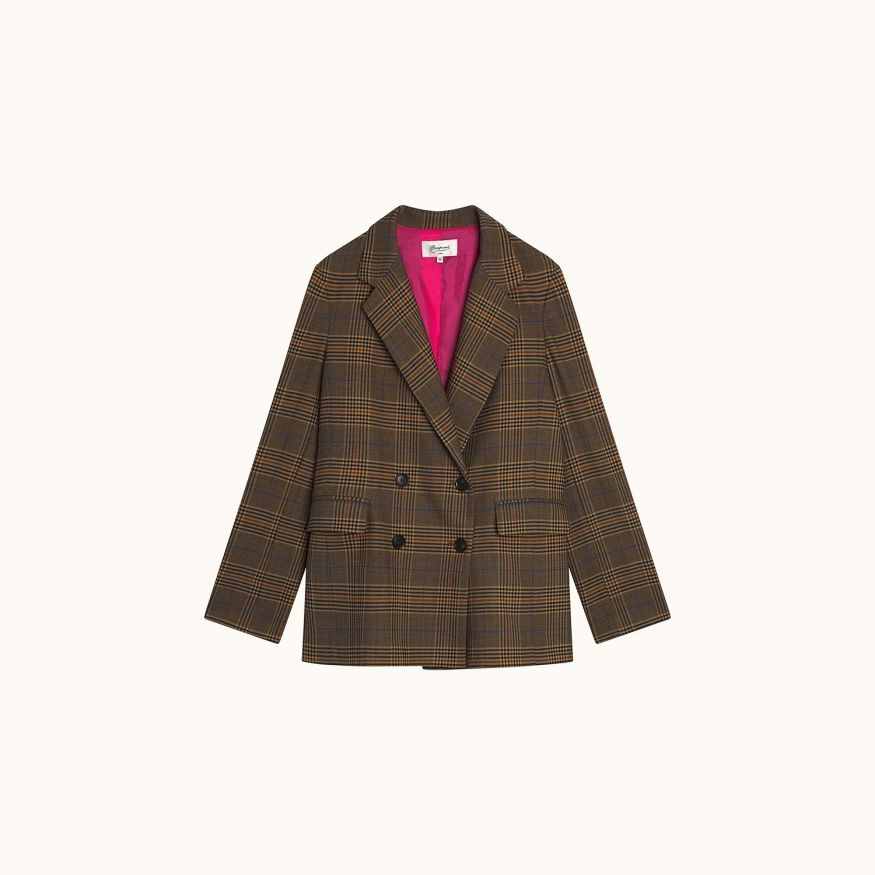 Marly jacket hazelnut tartan