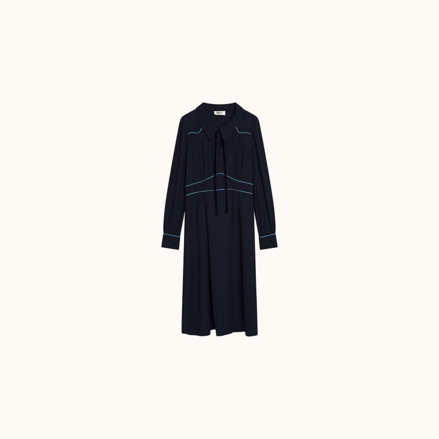 Maureen dress navy
