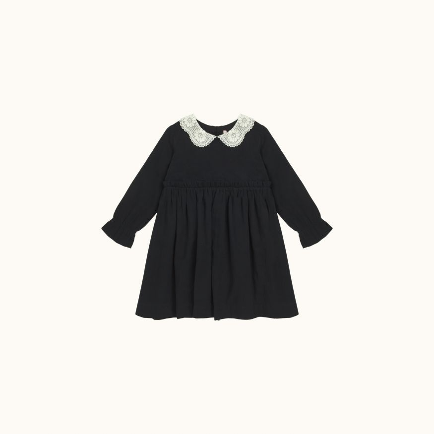 Robe Mavie Fille Faux noir