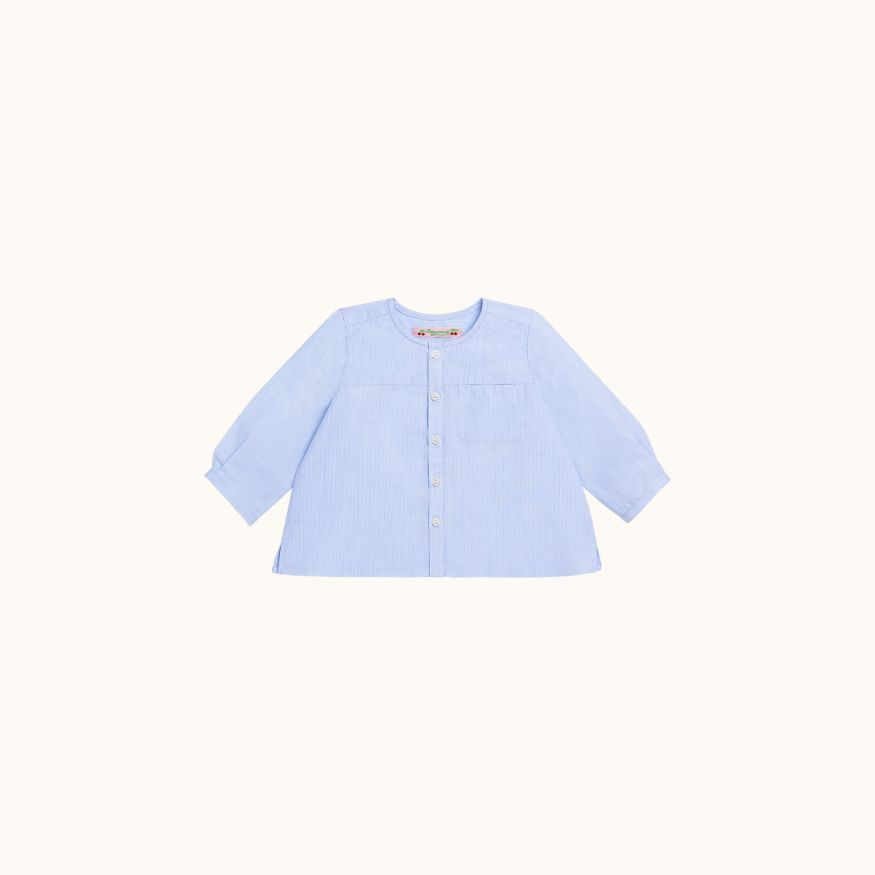 Mika shirt Sky blue stripe
