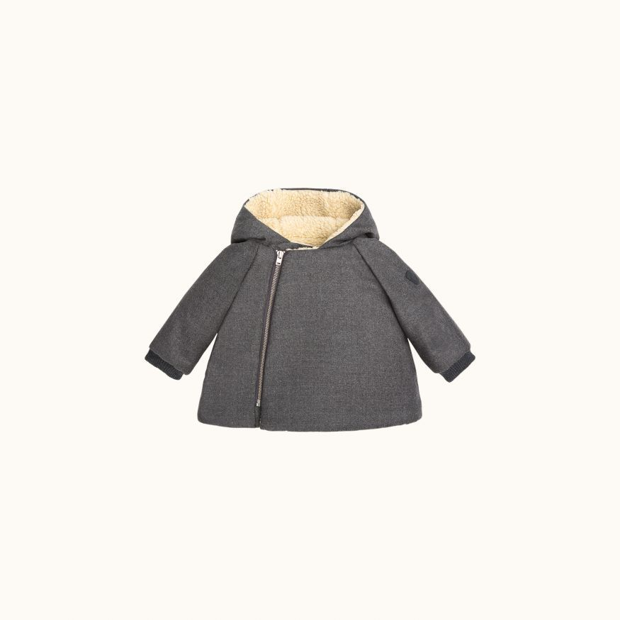 Manteau Minois gris chiné