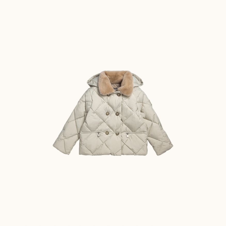 Modesty puffer jacket Chalk