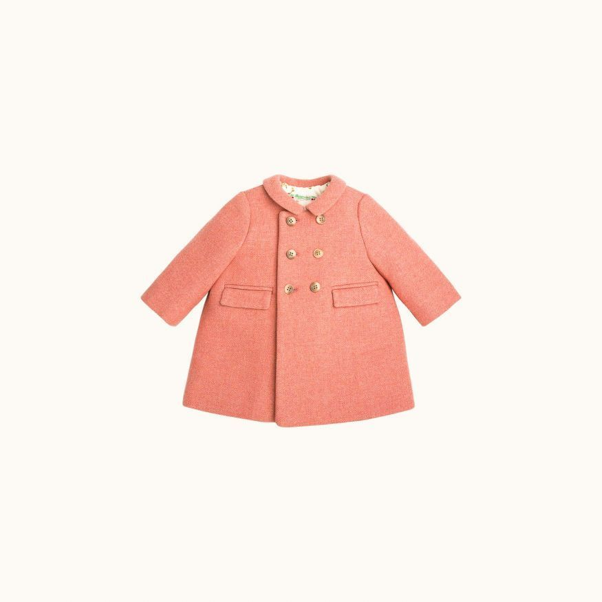 Moka babies' coat Blush pink