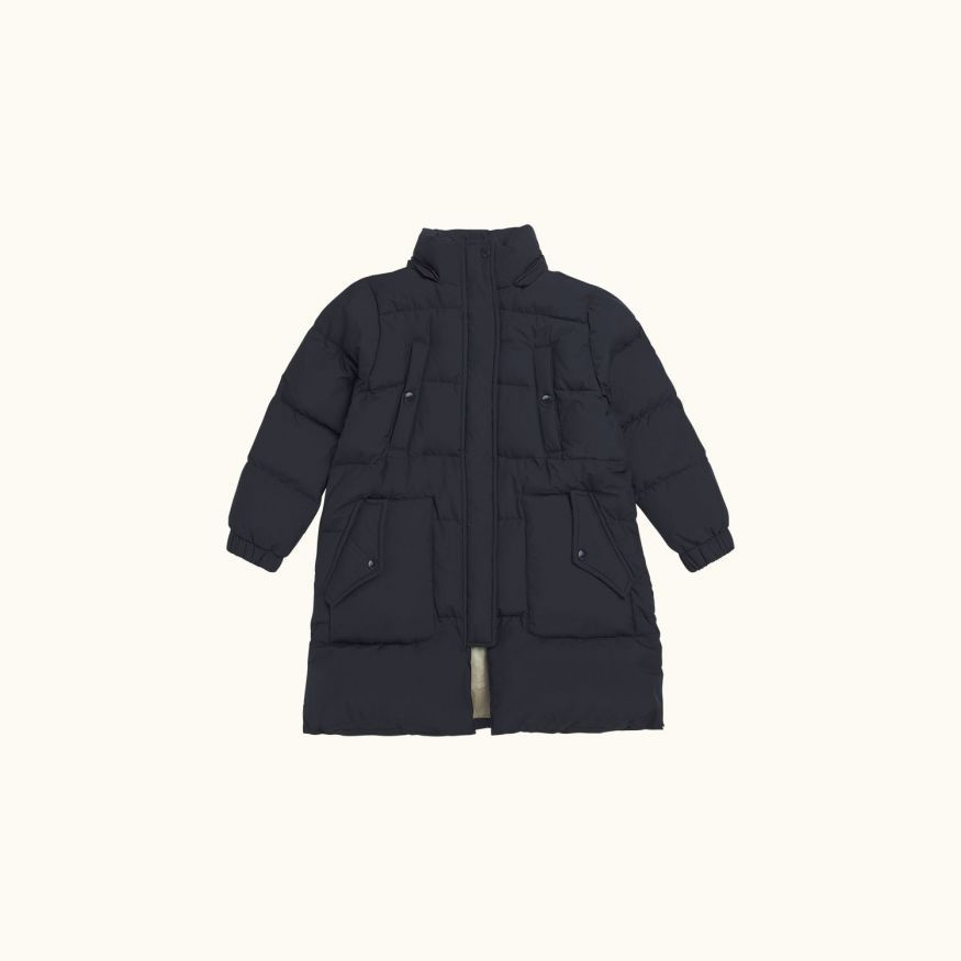Montana long puffer jacket Navy