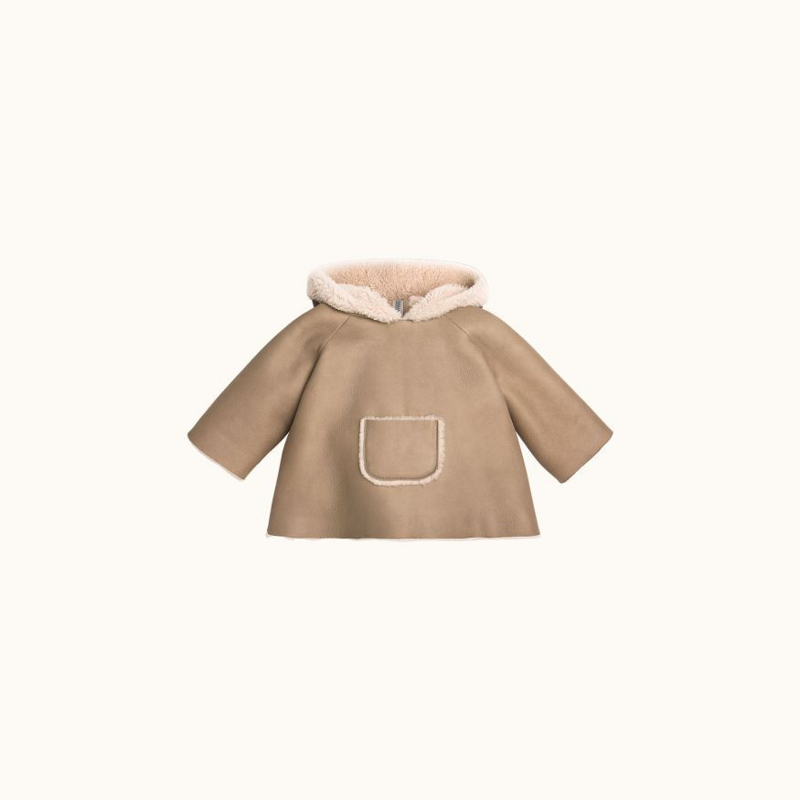 Babies' sheepskin coat Mole grey