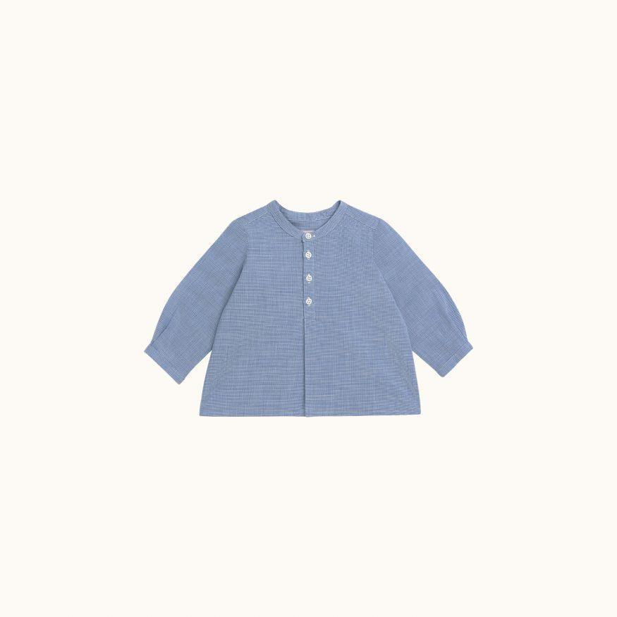 Polisson shirt Sky blue check