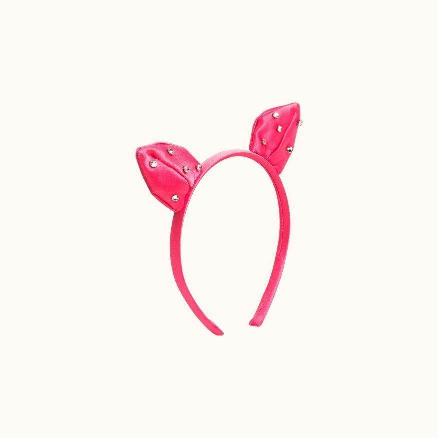 Kitty headband Bubblegum pink