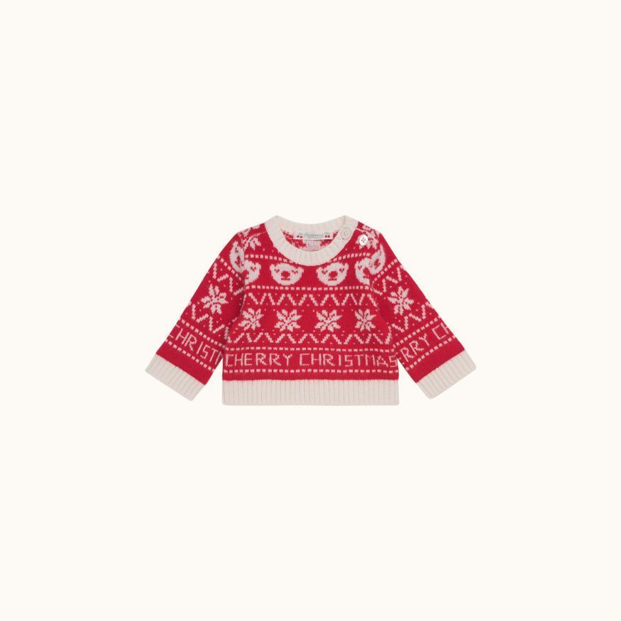 Jacquard sweater red