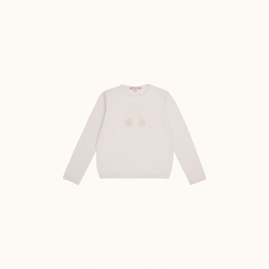 Cashmere sweater milk white