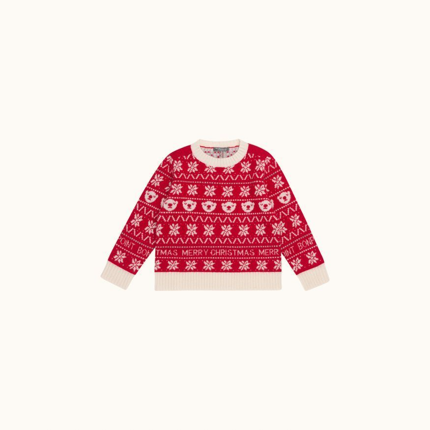 Cashmere sweater Red