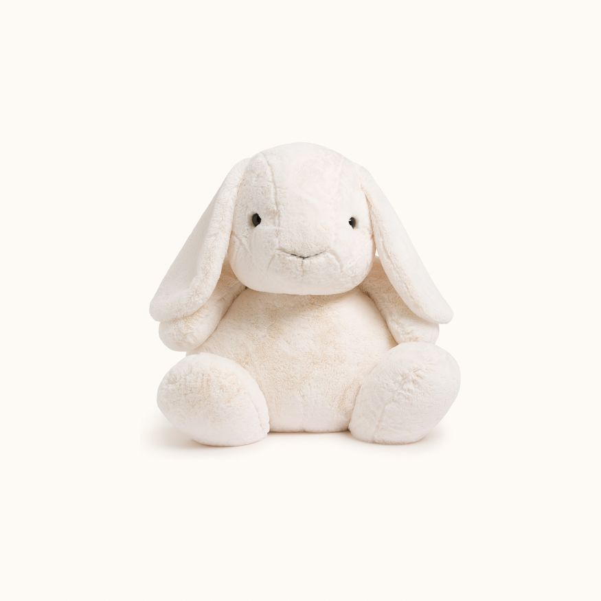 Jellap giant stuffed rabbit toy with sweater white