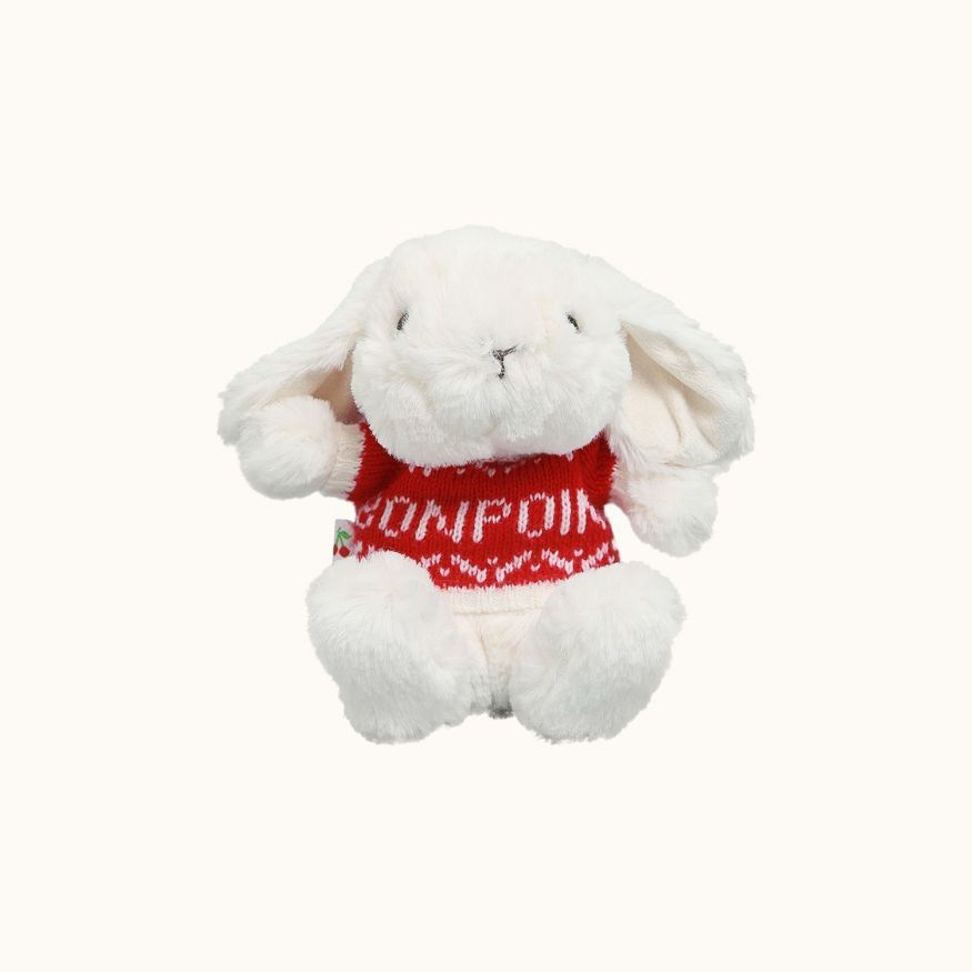 Jellap stuffed rabbit toy with sweater white