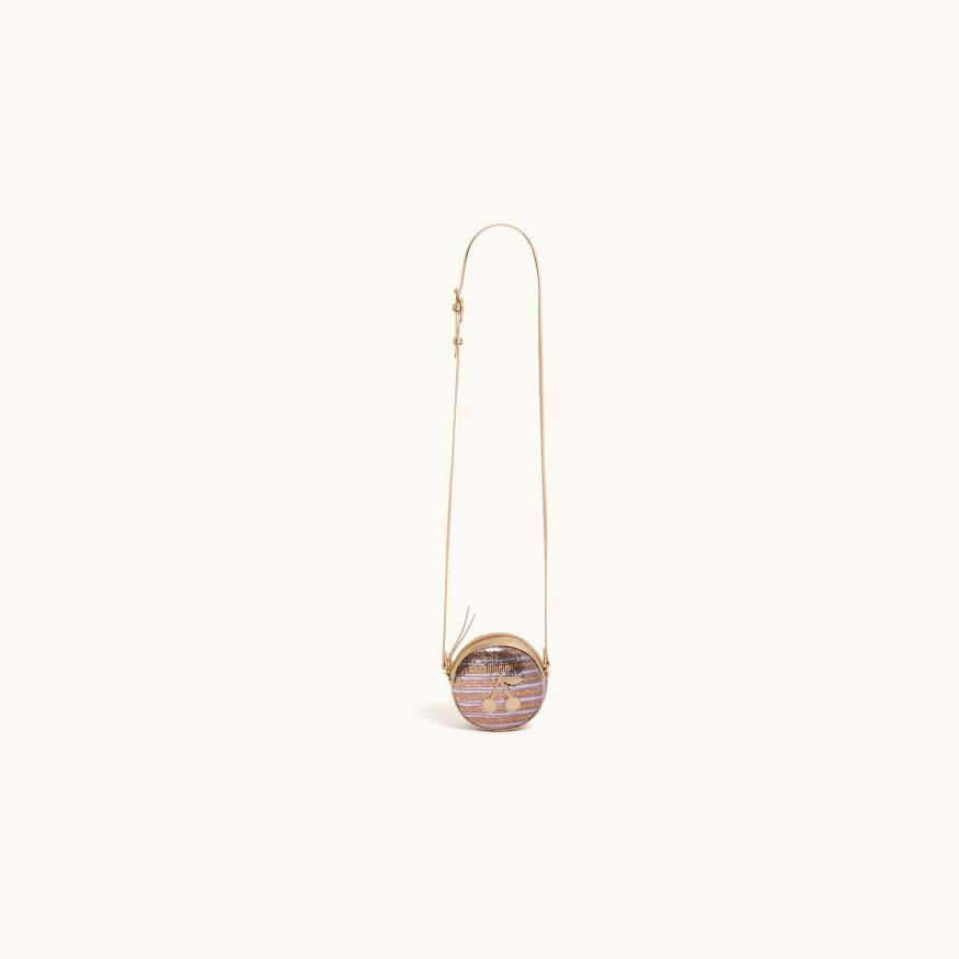 Gomette round bag rose gold