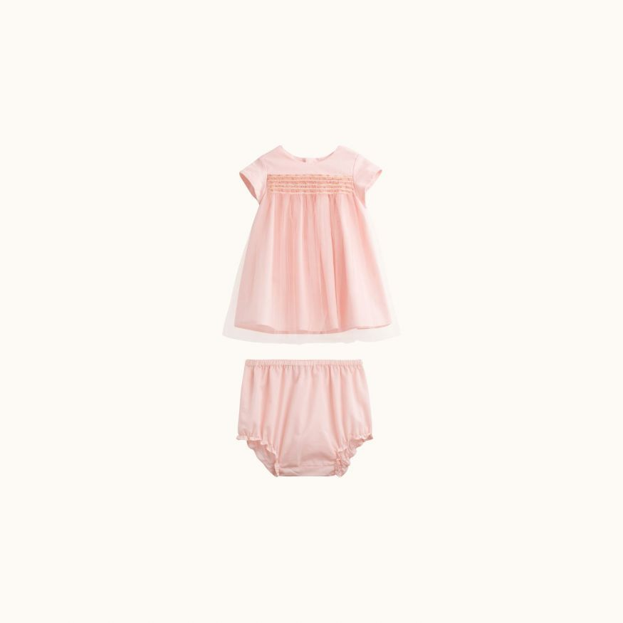 Maruska girls' dress powder pink